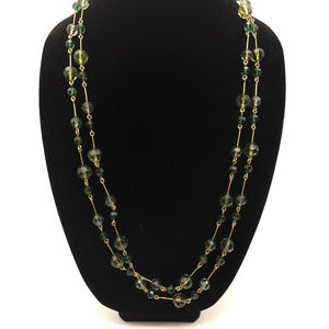 VTG Joan Rivers beaded green peridot necklace